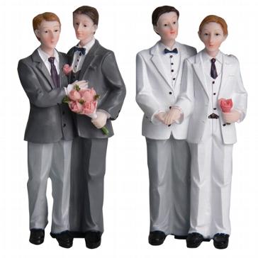 """Tortenfigur """"Männerpaar"""""""