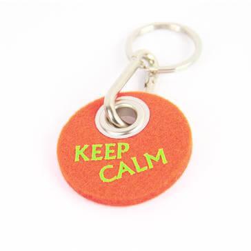 Filz-Schlüsselanhänger Keep calm