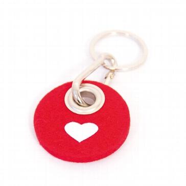 Filz-Schlüsselanhänger Herz