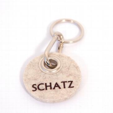 Filz-Schlüsselanhänger Schatz