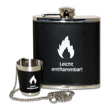 Flachmann-Set Entflammbar