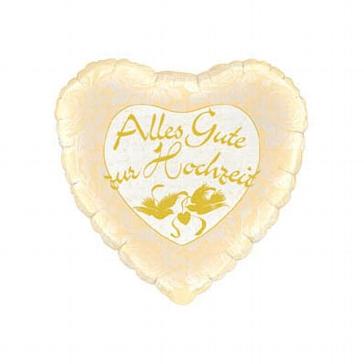 "Folienballon ""Alles Gute zur Hochzeit"", gold"
