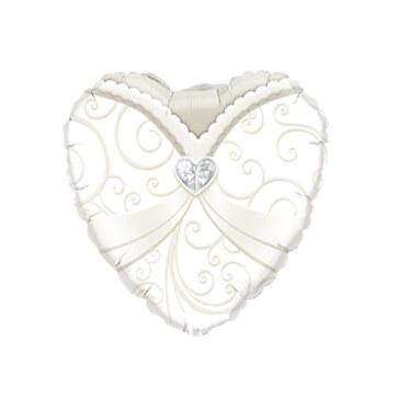 Folienballon Herz Braut