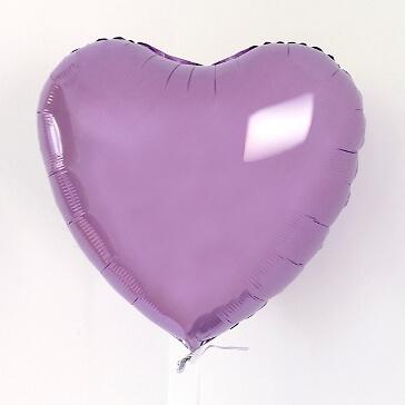 Folienballon Herz, mittel, flieder