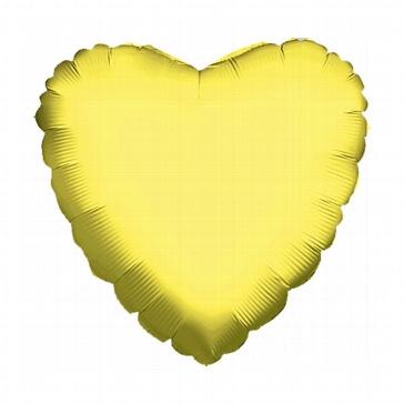 "Folienballon ""Herz"", mittel, gold"