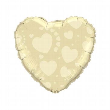 """Folienballon """"Herzen"""", gold"""