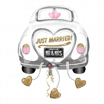 Folienballon Hochzeitsauto