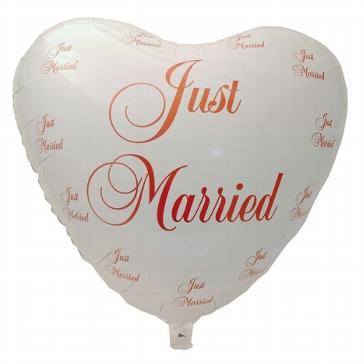 """Folienballon """"just married"""", weiß"""