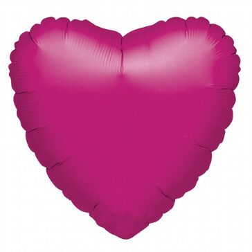 XL-Folienballon Metallic-Herz fuchsia