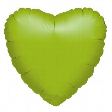 Folienballon Metallic-Herz grün