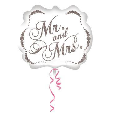 "Folienballon ""Mr&Mrs"" Oval"