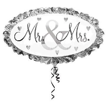 "Folienballon ""Mr und Mrs"""