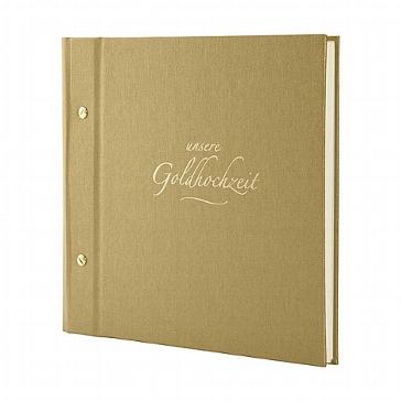 Goldenes Jubiläumsalbum für die 50-jährige Hochzeit