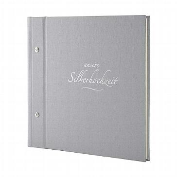 Silbernes Jubiläumsalbum für die 25-jährige Hochzeit