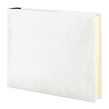 "Fotoalbum ""Vintage Media"" aus weißem Leder"