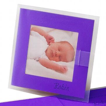 """Fotokarte """"Dolores"""" als Hochzeitskarte oder Geburtsanzeige"""