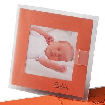 """Fotokarte """"Dolores"""" als Geburtsanzeige oder Hochzeitskarte"""