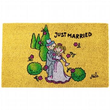 """Fußmatte """"just married"""""""