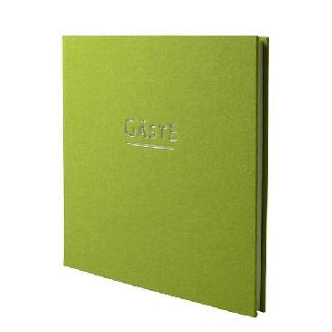 """Gästebuch Hochzeit """"München"""" - grünes Gästebuch"""