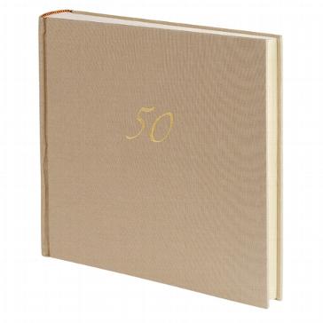 """Gästebuch """"50"""" beige"""