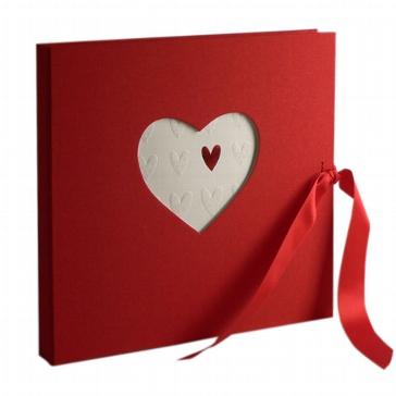 Gästebuch Herz rot
