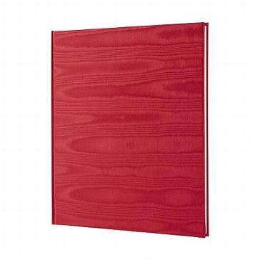 Schillerndes Gästebuch in Rot