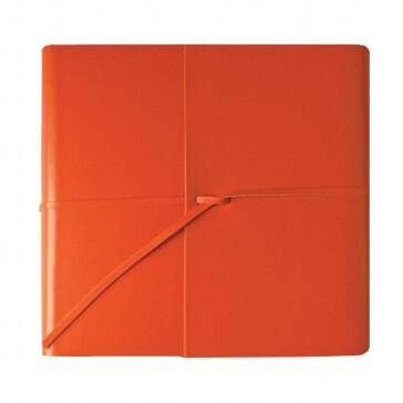 Gästebuch Romano aus orangem Leder