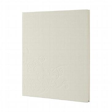 Chamoisfarbenes Gästebuch zur Hochzeit mit Ranken