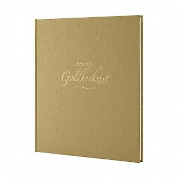 Goldfarbenes Gästebuch zur Goldhochzeit