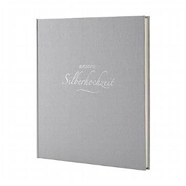 Silbernes Gästebuch zum 25-jährigen Hochzeitsjubiläum