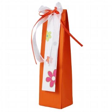"""Gastgeschenk """"Delphi"""" in orange - für die Taufe"""