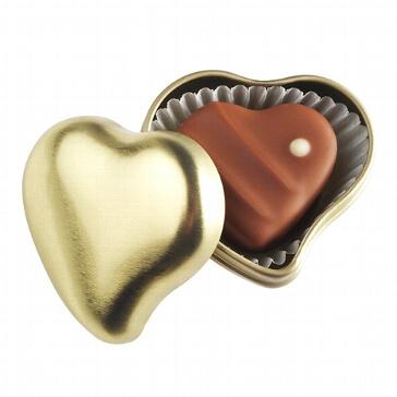 Gastgeschenk Herzdöschen inklusive Praline gold