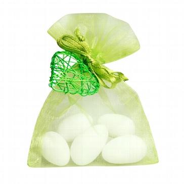 Gastgeschenk Juno für die Hochzeit - apfelgrün-grün