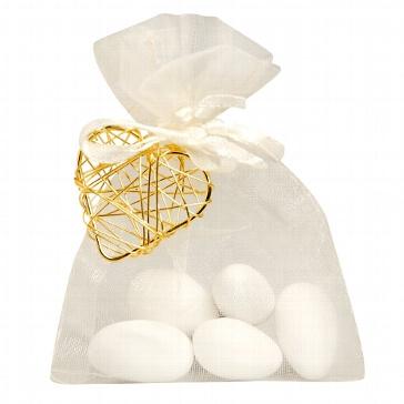 Gastgeschenk Juno für die Hochzeit - creme-gold