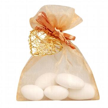 Gastgeschenk Juno für die Hochzeit - karamell-gold