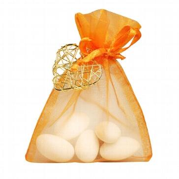 Gastgeschenk Juno zur Hochzeit - orange-gold