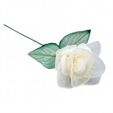 Gastgeschenk Bonboniere für die Hochzeit oder Taufe Mandelbluete Rose creme