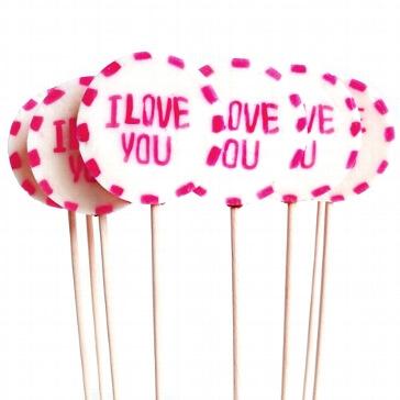 Gastgeschenk Lolli I Love You mittel - für Ihre Hochzeit
