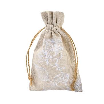 Gastgeschenk-Säckchen Leinen Blütentraum, 4 St. - Geschenksäckchen zur Hochzeit