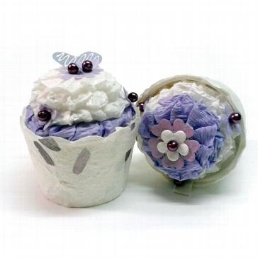 """Gastgeschenk-Box """"Cupcake"""" flieder - zur Hochzeit"""