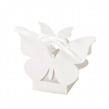 """Gastgeschenk-Box """"Schmetterling"""" creme - zur Hochzeit"""