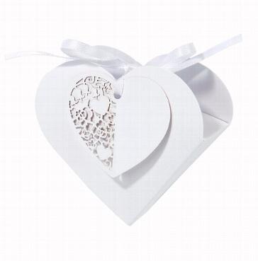 Gastgeschenkbox Weißes Herz
