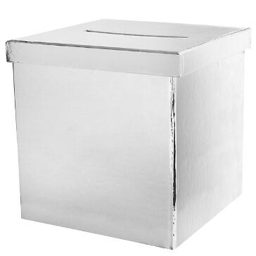 Geschenk-/Briefbox-silber