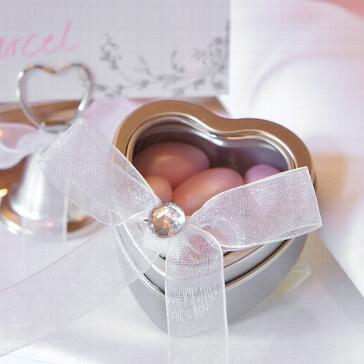Gastgeschenk Herzdose - Dekobeispiel