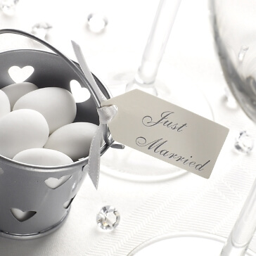 Geschenkanhänger Just Married in Creme
