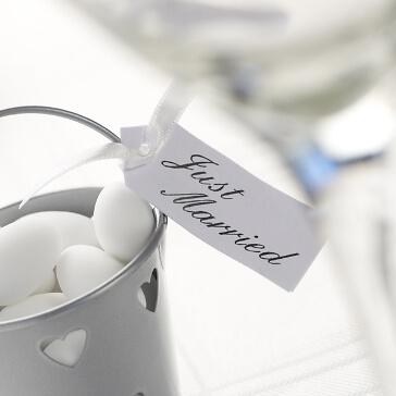 Geschenkanhänger Just Married in Weiß