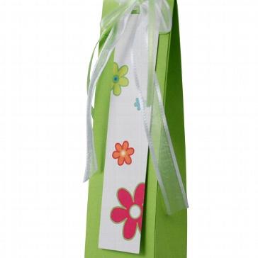 Geschenkanhänger Blume für das Gastgeschenk zur Taufe