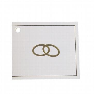 Geschenkanhänger Eheringe in Gold