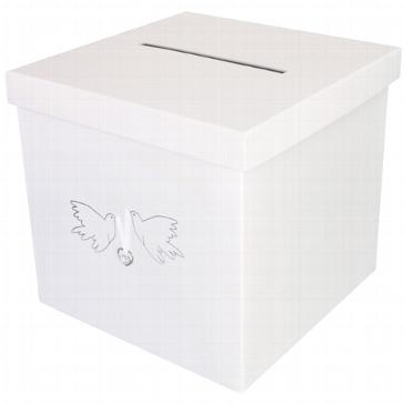 """Geschenkbox / Briefbox """"Tauben"""" in Weiß"""