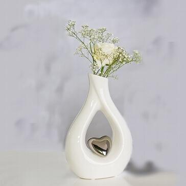 Blumenvase Silbernes Herz